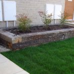 Fencing And Raised Flowerbed